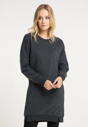 Jersey dress - dunkelgrau melange