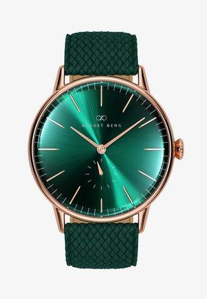 UHR SERENITY GREENHILL EYE DARK GREEN PERLON 40MM - Watch - sunray green