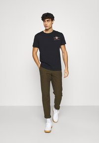 GANT - ARCHIVE SHIELD - Print T-shirt - black - 1