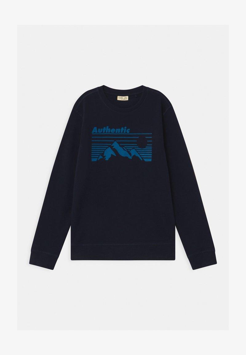 OVS - ROUND NECK - Sweatshirt - medieval blue