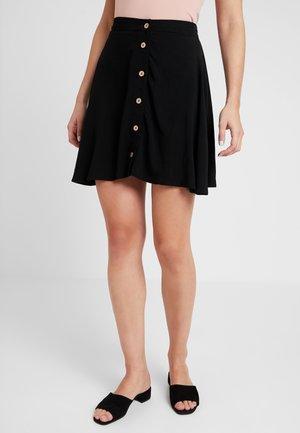 BUTTON FLIPPY - A-line skirt - black