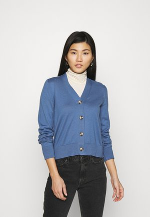 CARDIGAN LONG SLEEVE V-NECK BUTTON - Kardigan - nothern sky