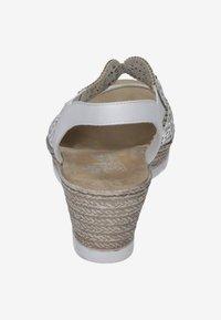 Rieker - Wedge sandals - white - 2