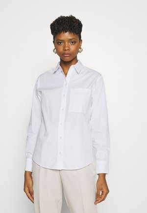 3PE POLLY POPLIN SHIRT - Button-down blouse - white
