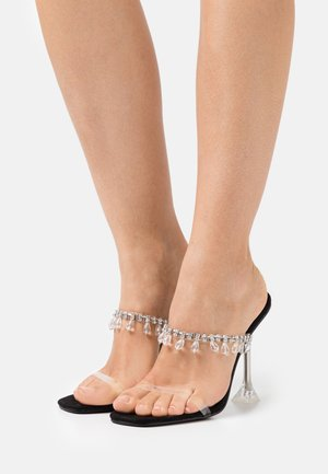 MADEIRA - Heeled mules - clear/black