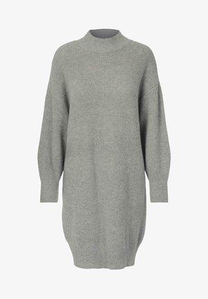 LINA - Strikket kjole - grey melange