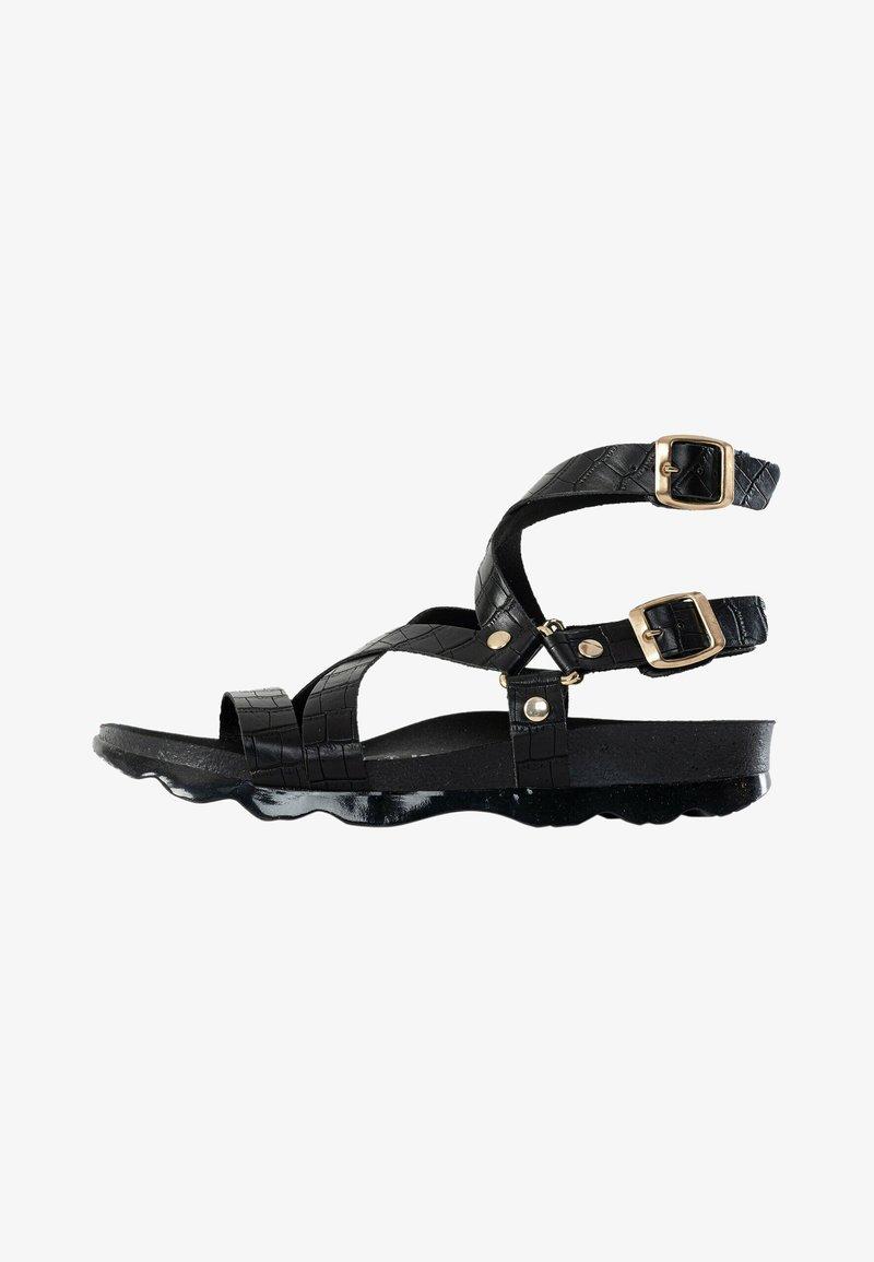 BAYTON - Sandalen met enkelbandjes - black