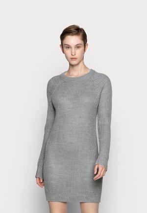 Strickkleid - mottled grey