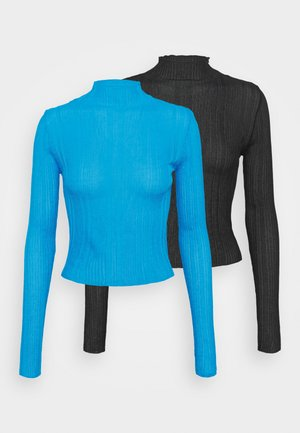 HIGH NECK 2 PACK - Sweter - black