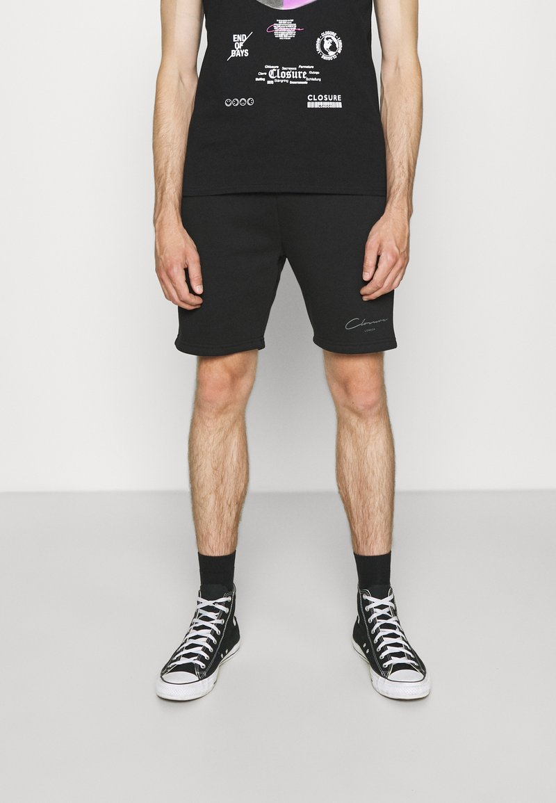 CLOSURE London - BRANDED  - Tracksuit bottoms - black