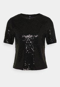 ONLY - ONLZALINA GLITTER - Print T-shirt - black - 0