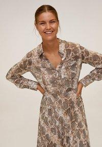 Mango - SERPI - Robe chemise - braun - 2