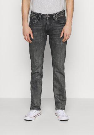 KINGSTON ZIP - Straight leg jeans - black denim