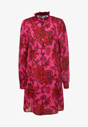 CASUAL BUTTON DRESS - Skjortekjole - fucsia