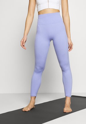 SEAMLESS 7/8 - Legging - light thistle/white