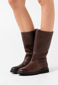 Shabbies Amsterdam - Vysoká obuv - dark brown - 0