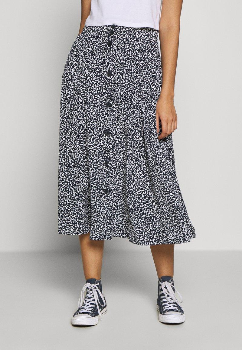 Monki - SIGRID SKIRT - A-line skirt - blue dark