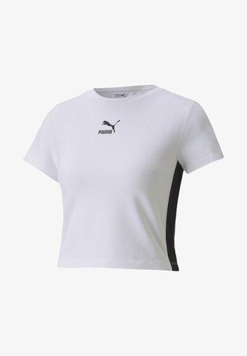 CLASSICS TIGHT CROPPED - Print T-shirt - white