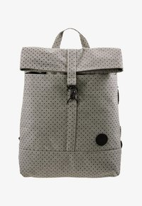 Enter - CITY FOLD TOP BACKPACK - Batoh - melange black/black polkadot - 5