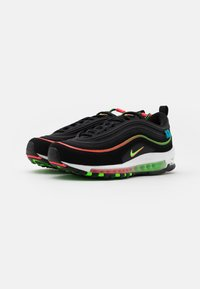 Nike Sportswear - AIR MAX 97 UNISEX - Zapatillas - black/green strike/flash crimson/white/off noir/blue fury - 1