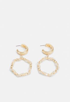 CIRCLE WRAP HOOP DROP - Earrings - gold-coloured
