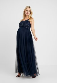 Maya Deluxe Maternity - CAPE OVERLAY DELICATE SEQUIN MAXI DRESS - Ballkleid - navy - 3