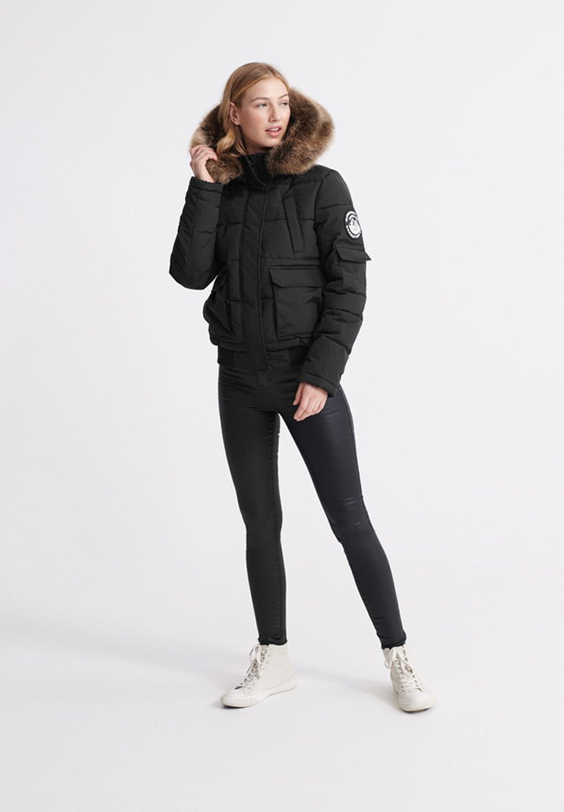 SUPERDRY ELLA EVEREST BOMBER JACKET Winterjacke black