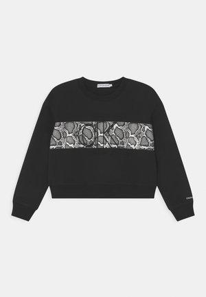 REPTILE SKIN BLOCK - Sweatshirt - black