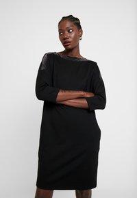 Opus - WILLIS GLITTER - Jersey dress - black - 0
