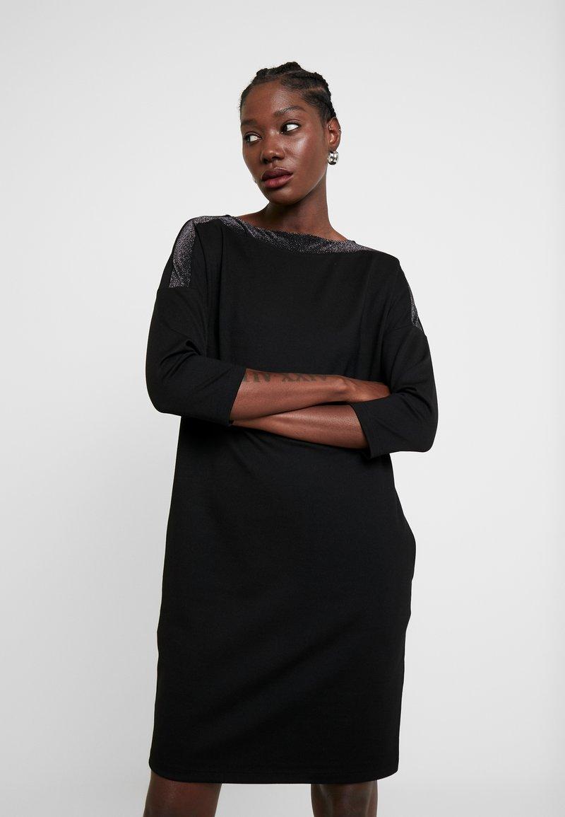 Opus - WILLIS GLITTER - Jersey dress - black