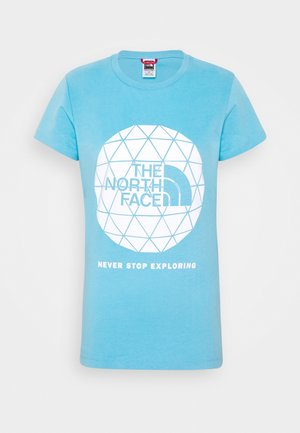 GEODOME TEE - Print T-shirt - ethereal blue