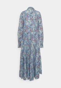 YAS Tall - YASSANTOS LONG SHIRT DRESS - Maxi dress - dusk blue/santos print - 1