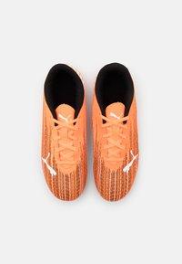 Puma - ULTRA 4.1 FG/AG JR UNISEX - Moulded stud football boots - shocking orange/black - 3