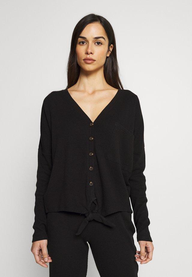 MELOUA LOUNGEWEAR - Maglia del pigiama - noir