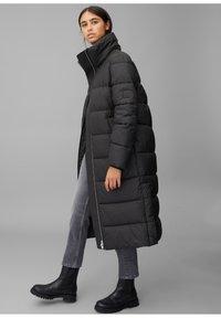 Marc O'Polo DENIM - LONG PUFFER COAT - Winter jacket - black - 0