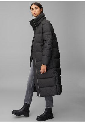 LONG PUFFER COAT - Winter jacket - black