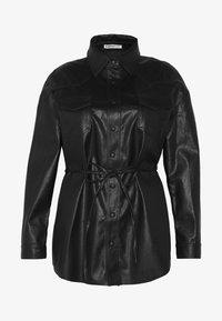 Glamorous Curve - SHIRT JACKETS - Faux leather jacket - black - 4