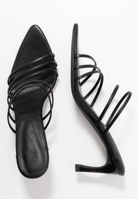 NA-KD - STRAPPY POINTY  - Heeled mules - black - 3