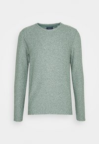 Jack & Jones - JORKILI CREW NECK - Stickad tröja - pale blue/sea spray cloud dancer - 0