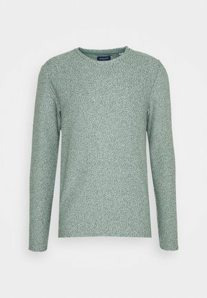 JORKILI CREW NECK - Stickad tröja - pale blue/sea spray cloud dancer