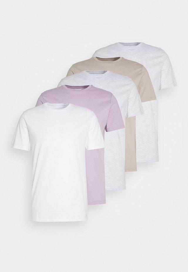TEE 5 PACK - Jednoduché triko - multicoloured