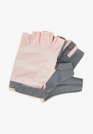 EXERCISE GLOVE - Fingerless gloves - lucky pink/grey