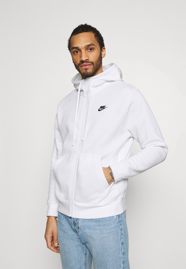 CLUB HOODIE - Huvtröja med dragkedja - white/black