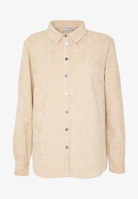 Button-down blouse - sesame