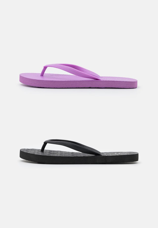 THE RUBI 2 PACK  - Pool shoes - lilac/black