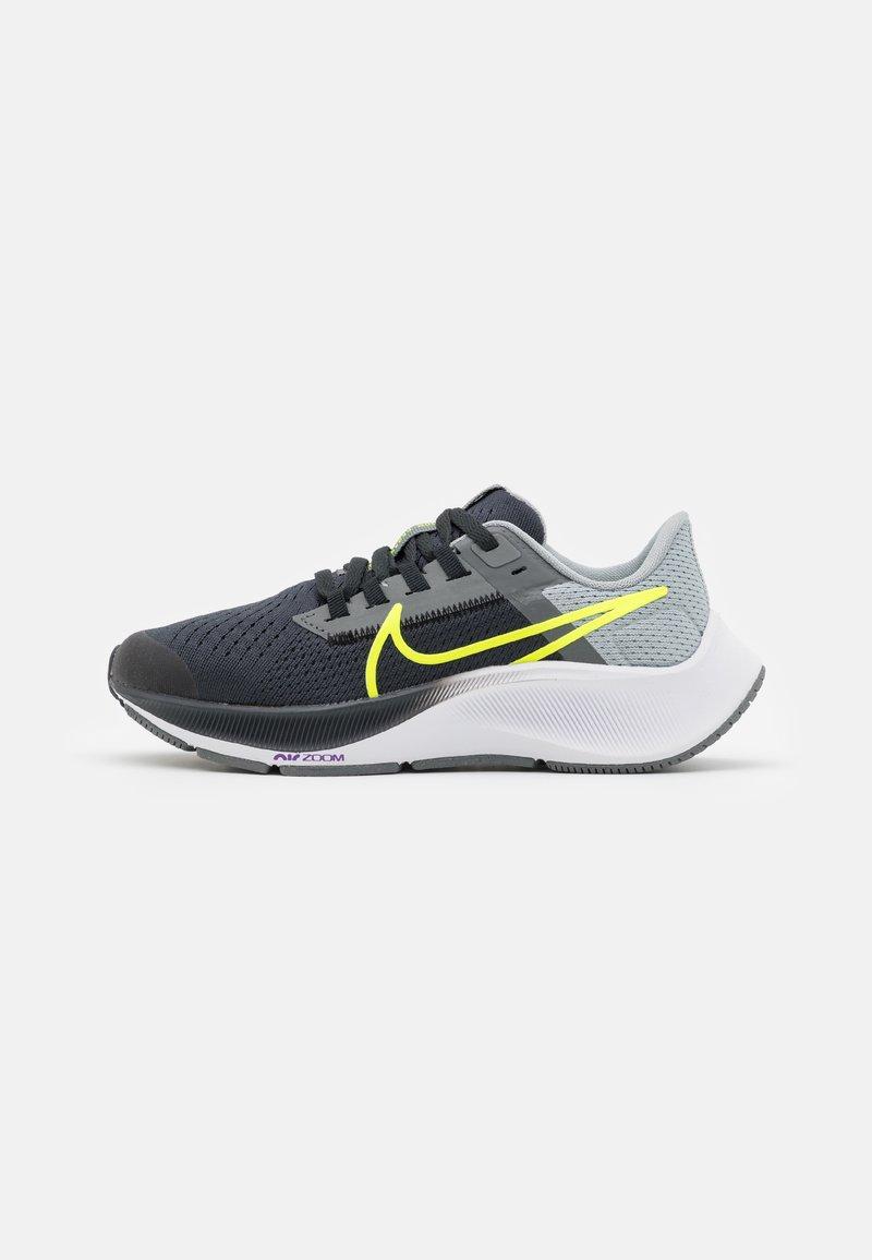 Nike Performance - AIR ZOOM PEGASUS 38 UNISEX - Competition running shoes - dark smoke grey/volt/smoke grey/light smoke grey