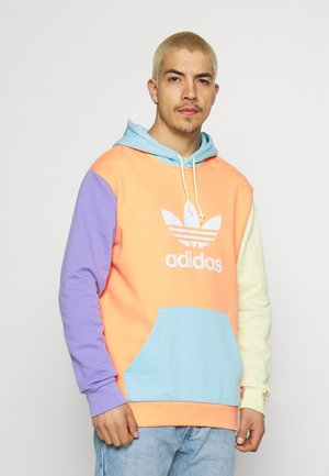 BLOCKED UNISEX - Hoodie - hazy orange/light pur
