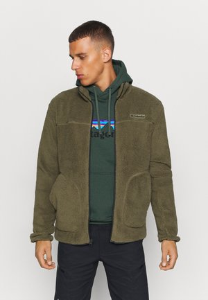 RUGGED RIDGEII - Fleece jacket - stone green/shark