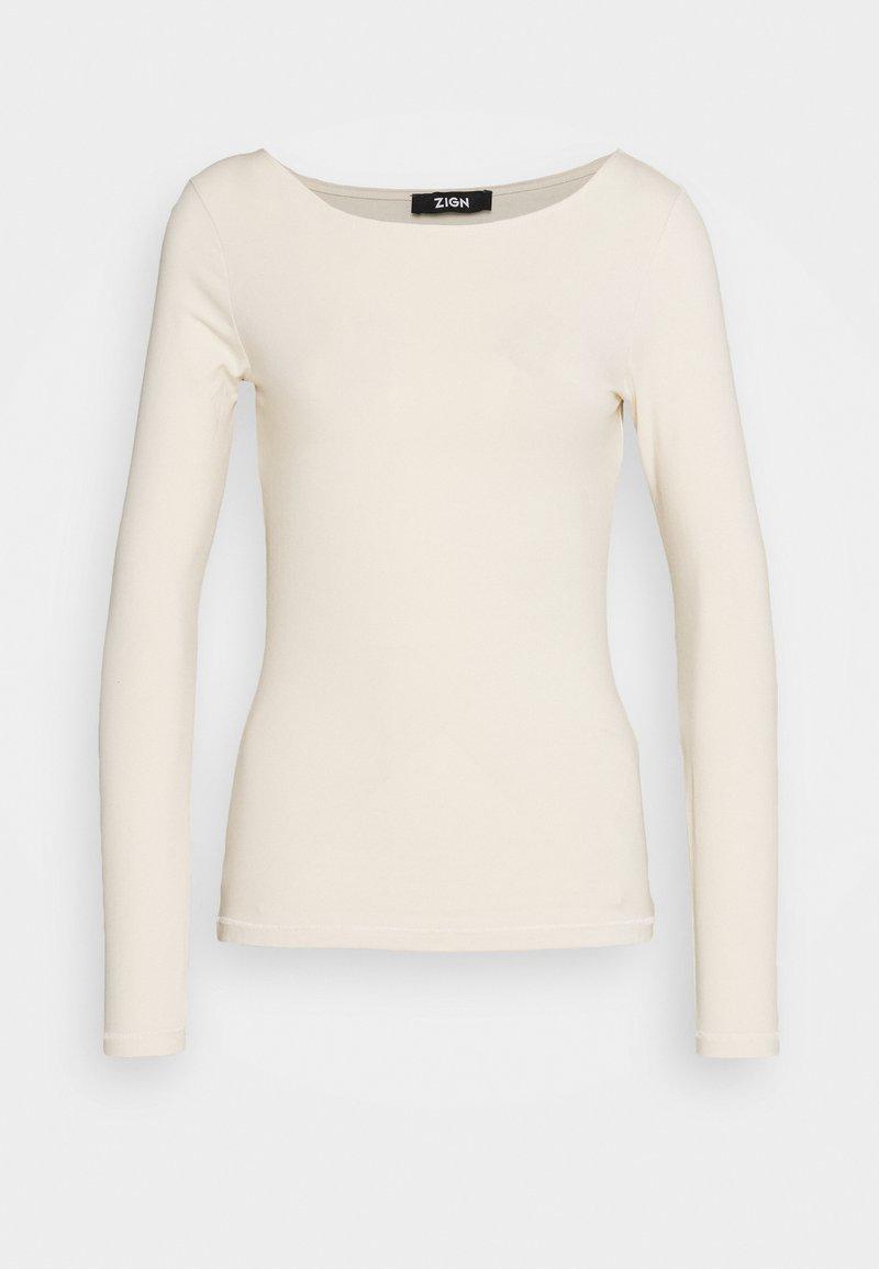 Zign - Long sleeved top - beige