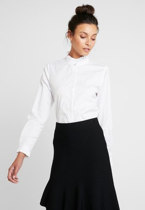 BLOUSE WITH RUFFLES - Blouse - white